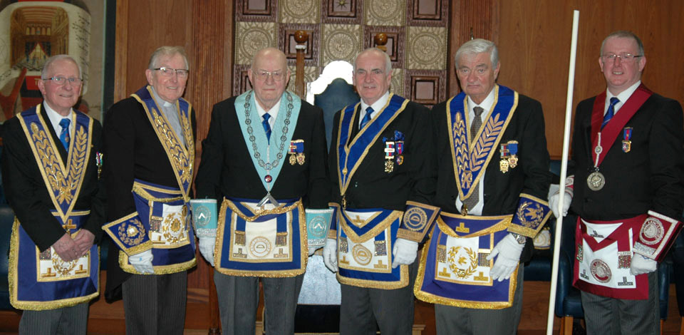Pictured from left to right, are: Alec Neilson, Alan Wolstencroft, James Edwards, Patrick Walsh, Tony Edden and David Marlor.