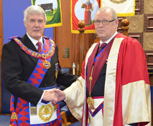 Paul attends Swinton Chapter installation