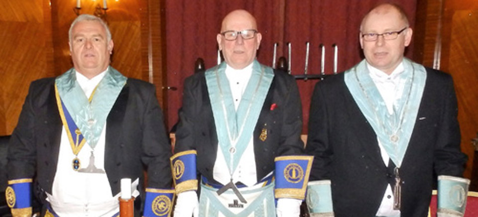 Pictured from left to right, are: Ron Cain, Ian Elsby and Colin Campion.