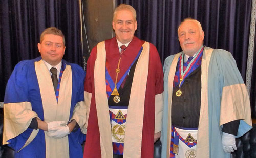 Pictured from left to right, are the opening three principals Dermot Moloney, Andrew Whittle and Steve Senneck.