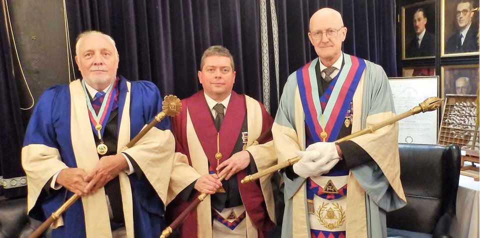 Pictured from left to right, are the newly installed principals: Steve Senneck, Dermot Moloney and John McGibbon.
