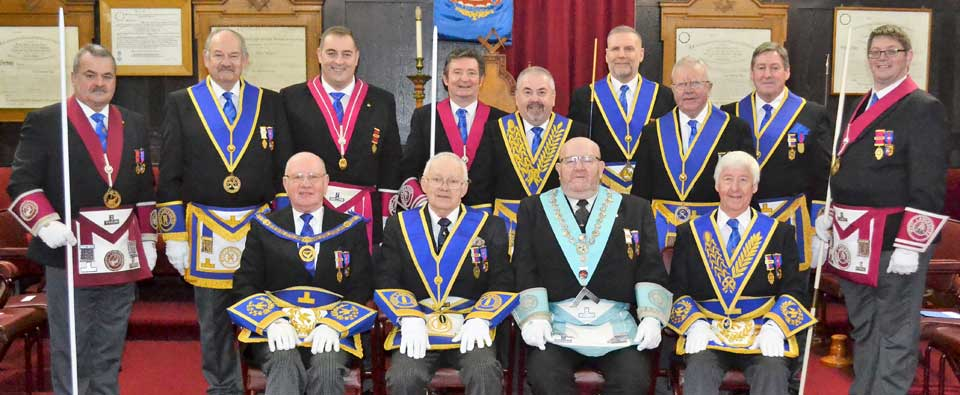 Pictured from left to right, seated are: David Grainger, John Heaton, Terry Nealons and Jim Wilson. Standing are: Keith Halligan, David Cole, Scott Devine, Phil Burrow, Christopher Butterfield, Barry Fitzgerald, Keith Kemp, Neil McGill and Stewart Aimson.