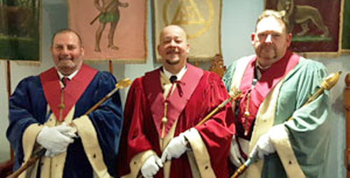 Pictured from left to right, are: The three principals Neal Atkinson, Glenn Hornby and David Topping.