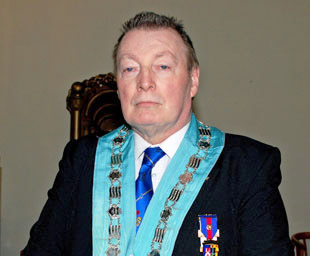 Anthony installed as WM of Lodge of Harmony