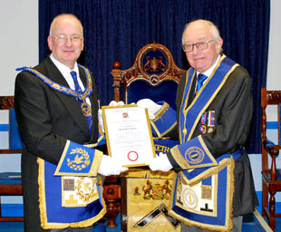 Derek celebrates 60 years in Freemasonry