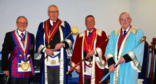 Pictured from left to right, are: Ian Cuerden, Simon Gray, Michael Clarke, and Allan Hore