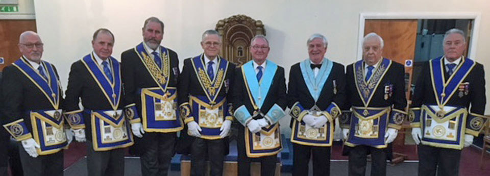 Pictured from left to right, are: Mike Dutton, Graham Chambers, Frank Umbers, Colin Jenkins, William Knibb, Stephen Andrews, Malcolm Alexander and Thomas Bradfield-Kay.