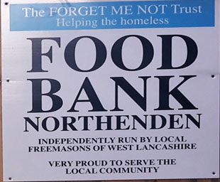 Forget-Me-Not Trust set up a Food Bank in Northenden
