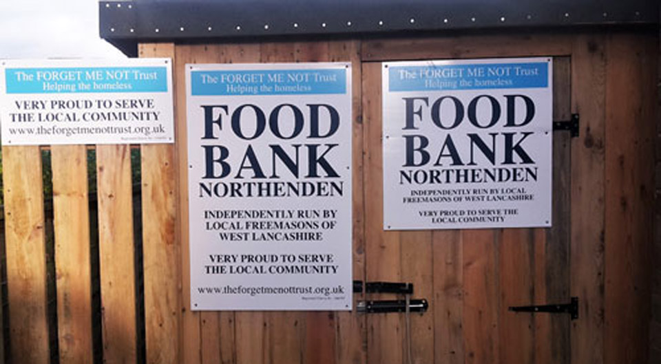 Forget-Me-Not Trust Food Bank, Northenden.