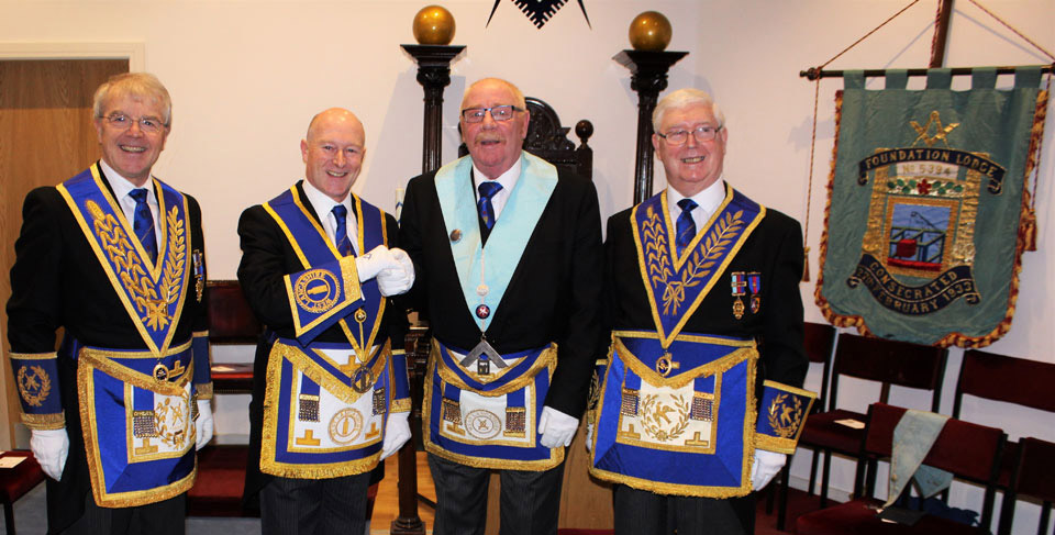 Pictured from left to right, are: David Durling, Peter Allen, Trevor Bedder and Brian Hayes.