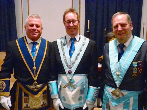 Pictured from left to right, are: John Topping, Alan Barlow and Conrad Petrus.