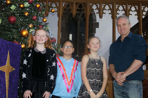 Pictured from left to right, are: Sophie Barker, Kai Whalley, Sophie Gorman and Barry Corcoran.