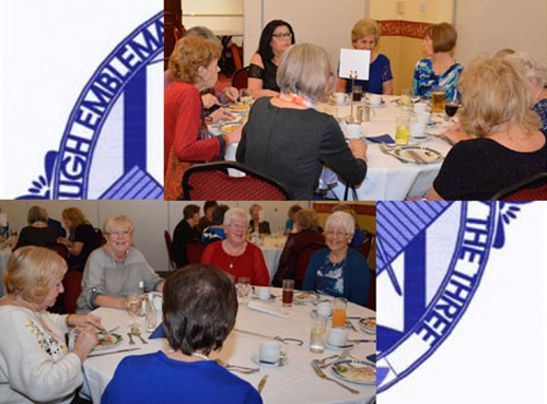 Lodge of Lights' ladies and guests enjoy a meal together.