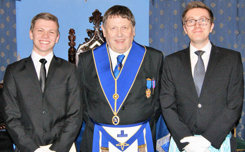 Members of the Sandford dynasty, from left to right, are: Brett Reddin, Gordon Sandford and Harry Smith.