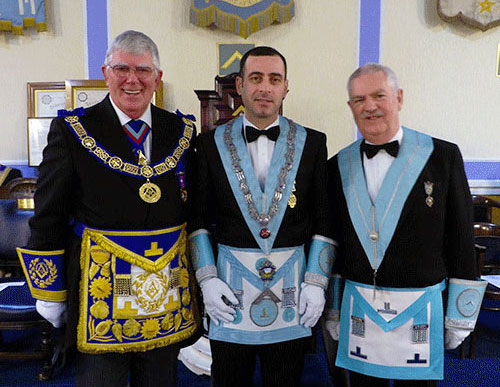 Pictured from left to right, are: Tony Harrison, Marin Sirbu and Michael Thorne-Hebson
