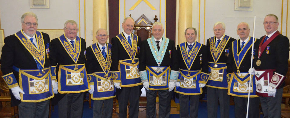 Pictured from left to right, are: Roy Pyne, Len Hart, Alec Neilson, Barry Jameson, Paul Webster, David McCormick, Brian Everall, Patrick Walsh and David Marlor.