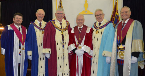 Pictured from left to right, are: David Hill, Barry Jameson, Tony Harrison, David Price, Ian Higham and Dave Walmsley