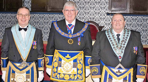 Pictured from left to right, are: Phil Hudson, Tony Harrison and Brian McNulty.