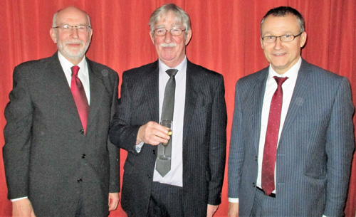Pictured from left to right, are: Gladstone Group officer's John James (vice chairman), Bill Culshaw and Ian Sanderson.