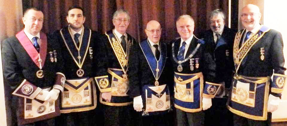 Pictured from left to right, are: Paul Dooley, Daniel Senneck, Bill Culshaw, Harry Binks, Derek Parkinson, David Potts and John James.
