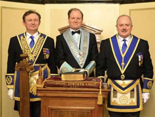 Pictured from left to right, are: Joseph Hall, Derek Evans and Bob Paterson.