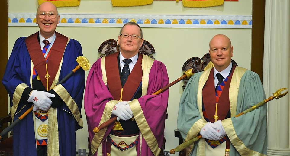 Pictured from left to right, are: The installing principals Geoff Gill, Eric Poole and Paul Copeland.
