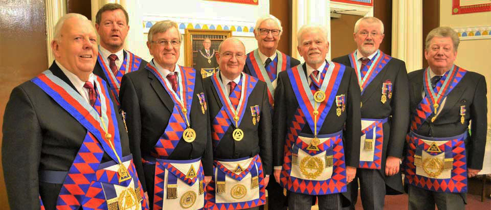 Pictured from left to right, are: Dave Anderton, Dave Kemp, Ian Black, John Gibbon, Fred Hunter, David Randerson, David Barr and Ian Gee.