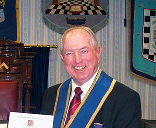 Alan celebrates 50 years in Freemasonry