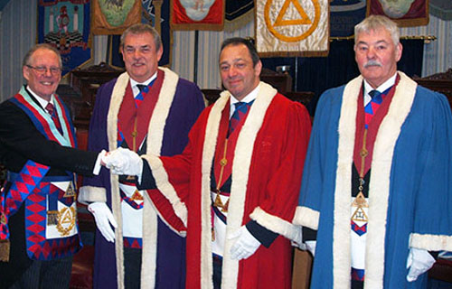 Pictured from left to right, are; Ian Cuerden, Andrew Harrison, James Rashid and John Pitches.