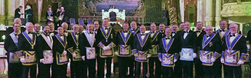 The founding members of Pro Patria Lodge.