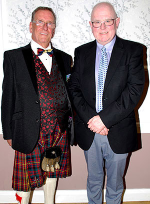 Mike Clarke, the MC (left) and Allan Hore the WM.