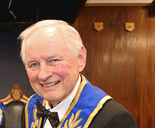 Peter celebrates 50 years as a Freemason