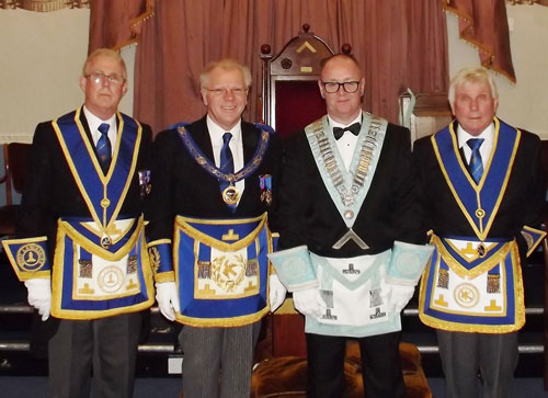 Pictured from left to right, are: Geoffrey Porter, Derek Parkinson, John Thompson, and Barry Fisher.