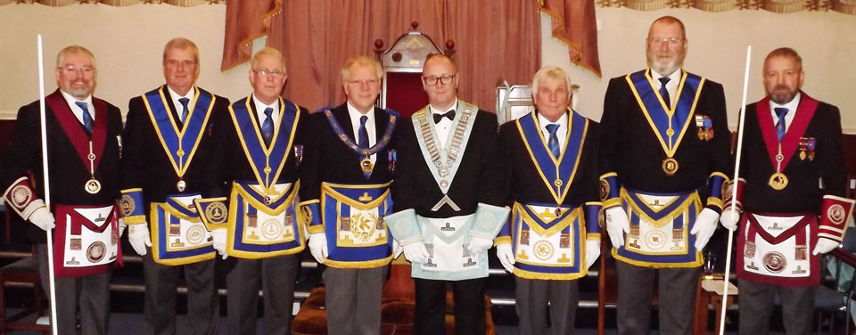 Pictured from left to right, are: David Rigby, John Selley, Geoffrey Porter, Derek Parkinson, John Thompson, Barry Fisher, Fred Dickinson and Trevor Jones.