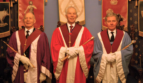 Pictured from left to right, are: The three principals, Albert Hogg, Matthew Wilson and Stephen White.