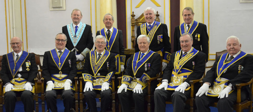 Pictured from left to right seated, are: Jack Raine, David Rogers, Brian Jackson, Brian Crossley, George Mann and Norman Jarvis. Back row from left to right, are: Harold Smith, Ken Jones, John Hutton and Michael Heath.