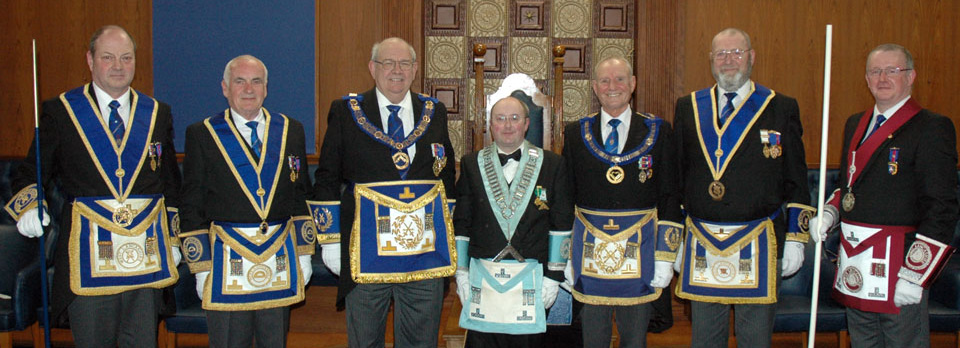 Pictured from left to right, are: Mark Barton, Patrick Walsh, Phillip Gunning, Nick McCarthy, David Walmsley, Fred Dickinson and David Marlor.