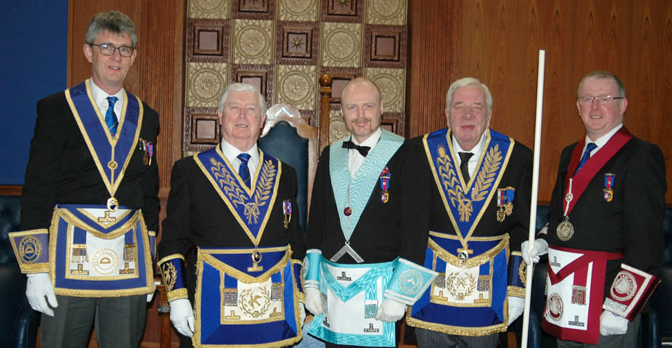 Pictured from left to right, are: Jonathan Platt, Brian Hayes, Lee Jenkins, Chris McNab
