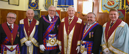 Pictured from left to right, are: Tony Cassells, Mick Lacey MBE, Ian Higham, David Dryden, Chris Butterfield and David Ingham.