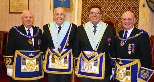 Pictured from left to right, are: Harry Cox, Bill Edmonds, Ken Boon and David Grainger.