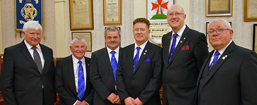 Pictured from left to right, are: Stuart Brackstone, Bill Glassey, Keith Halligan, Peter Schofield, Gary Rogerson and Harry Chatfield.