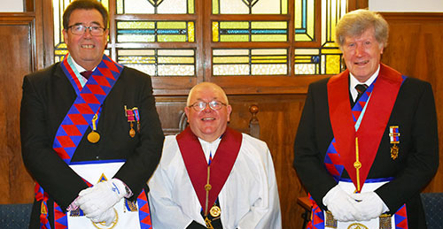 Pictured from left to right, are: Ken Boon, Harry Chatfield and treasurer Wilf Proctor.