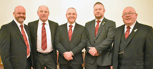 Pictured from left to right, are; Mike Benson, Barrie Bray, Graham Benson, Scott Deakin and Harry Chatfield.