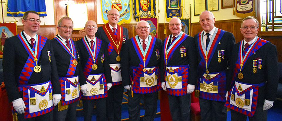 Pictured from left to right, are: Steve McClintock, Dennis Laird, Peter Quirk, group vice-chairman Gary Rogerson, John Quiggin, David Grainger, Rowly Saunders and Paul Thompson.