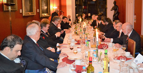 Members and guests enjoying a delightful meal in good company.