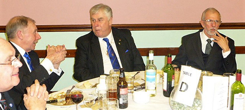 Vice chairman Dave Johnson (centre) and guests.