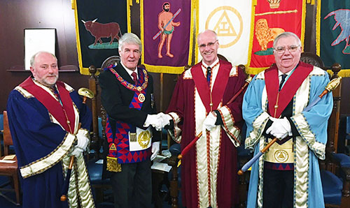 Pictured from left to right, are: Frank Kennedy, Paul Renton, Chris Carnell and the Reverend Stephen Leach.