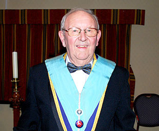 Francis is the new WM of St Michael's Lodge