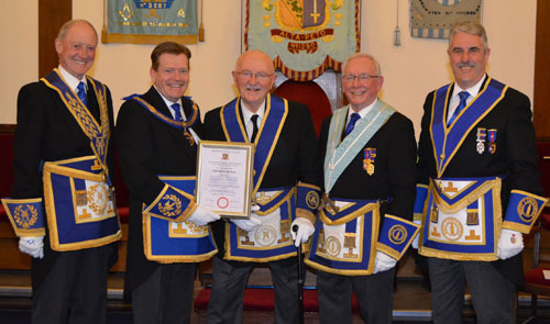Pictured from left to right, are: Barry Jameson, Kevin Poynton, Les Smallman, John McIntyre and Andy Barton.
