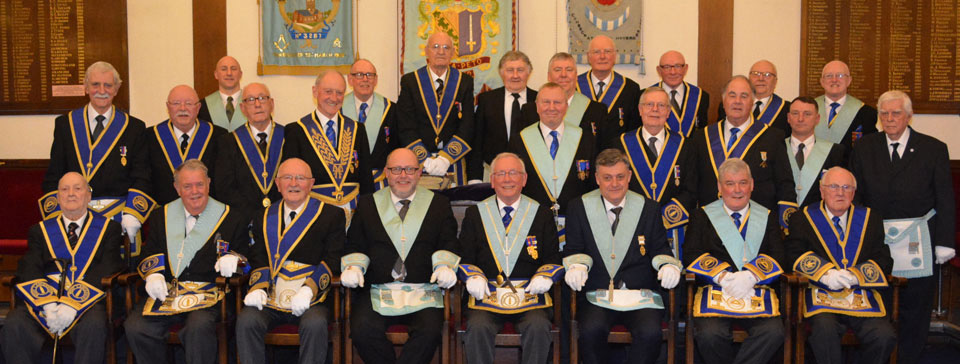Members of the Warrington Lodge of Concord in support of Les.